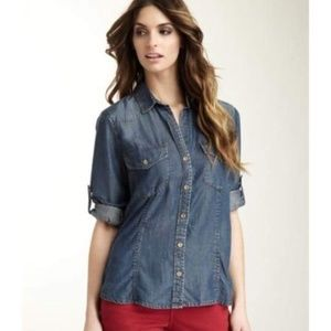 Anthropologie Cloth & Stone Chambray Button Down M